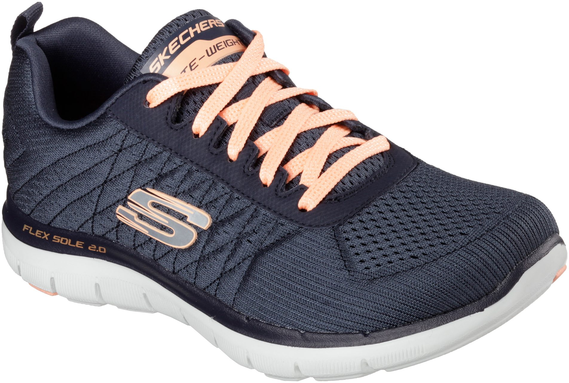 1f4ce2e311b7 Skechers Flex Appeal 2.0 - Break Free Charcoal 12757 CHAR - Womens Trainers  - Humphries Shoes