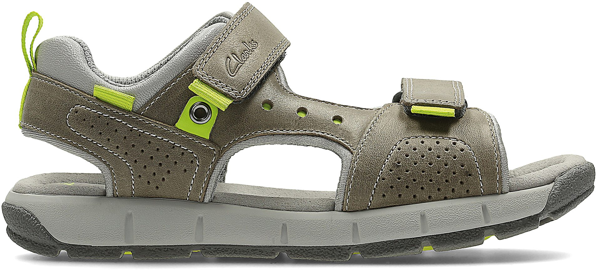 9a22a32e1ed Clarks Jolly Wild Infant Grey Leather 26123888 - Boys Sandals - Humphries  Shoes