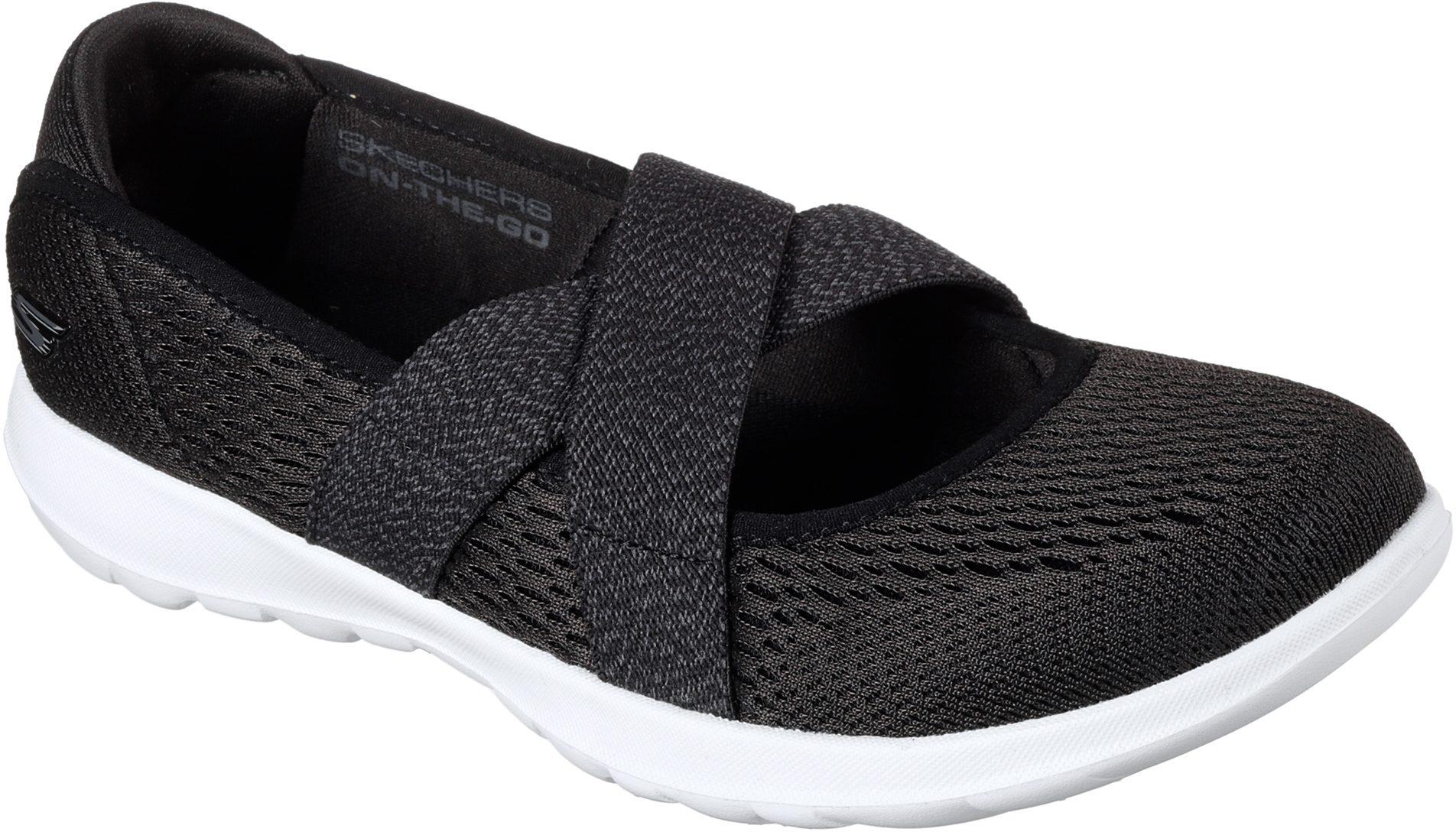 6a72e2249dd20 Skechers Go Walk Lite - Cutesy Black / White 15407 BKW - Womens Trainers -  Humphries Shoes