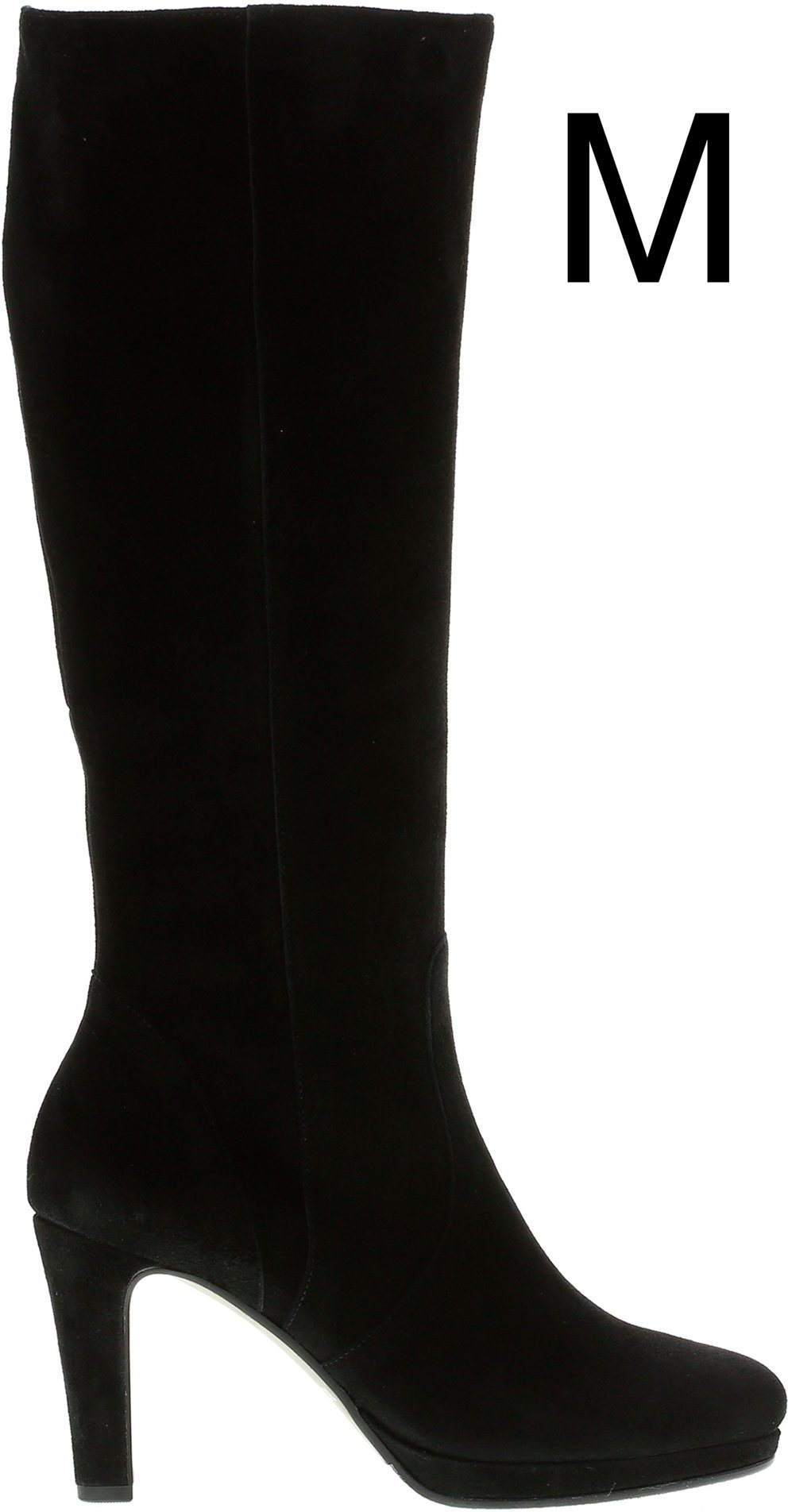 a0ea59ef268 Gabor Drama Black Suede 75.709.17 - Knee High Boots - Humphries Shoes