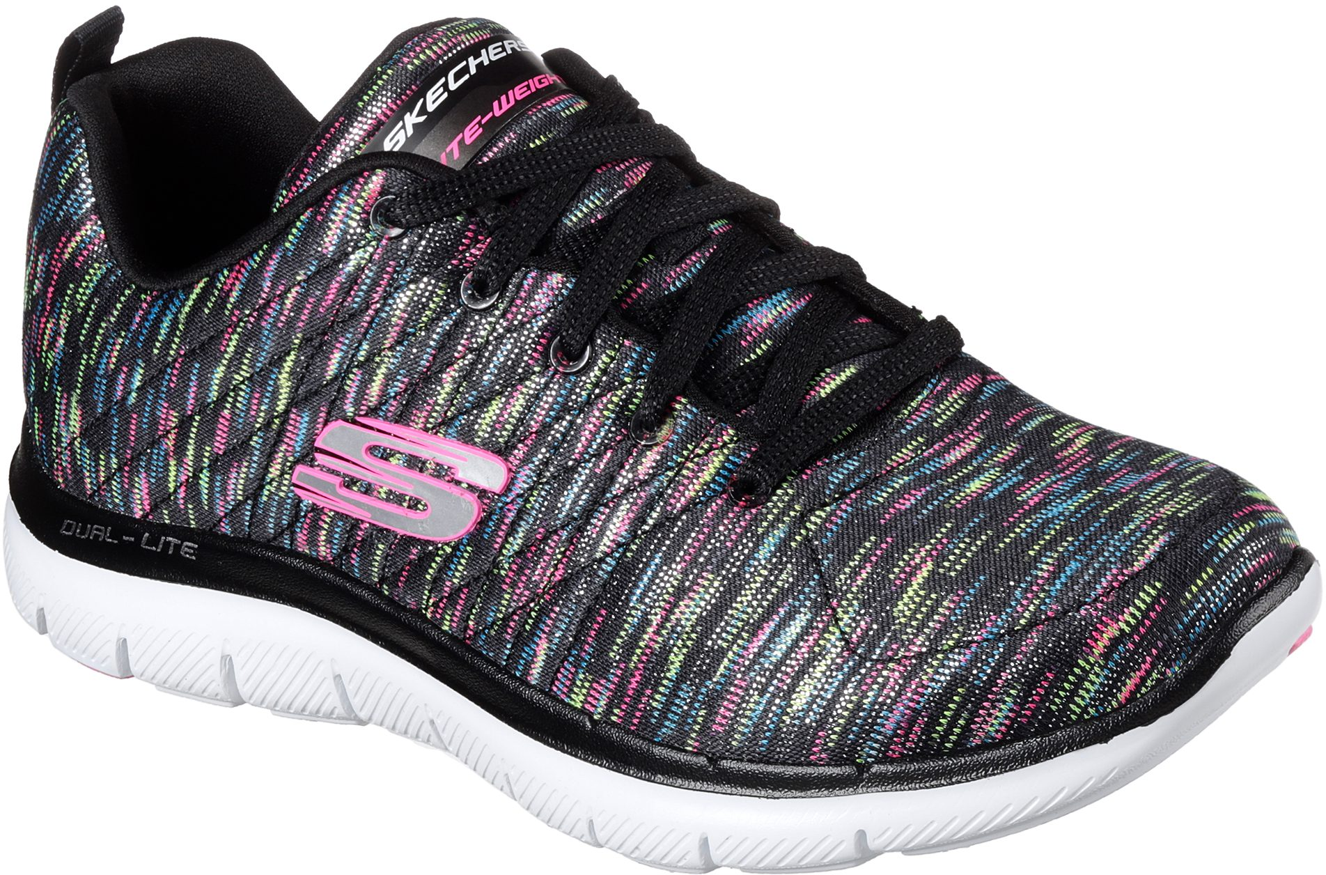 32064ea9c45a Skechers Flex Appeal 2.0 - Reflections Black   Multi 12908 BKMT - Womens  Trainers - Humphries Shoes