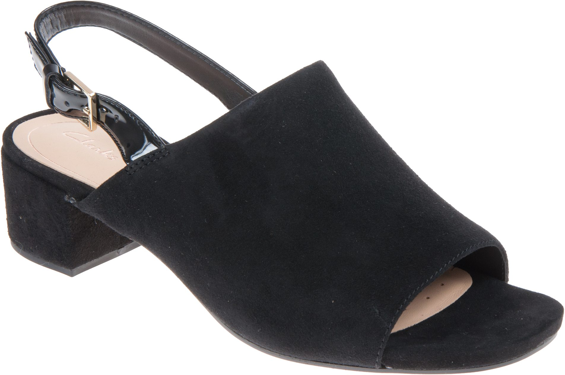 Humphries Sandals Orabella Clarks Black 26131187 Full Ivy Suede 0qF6aY
