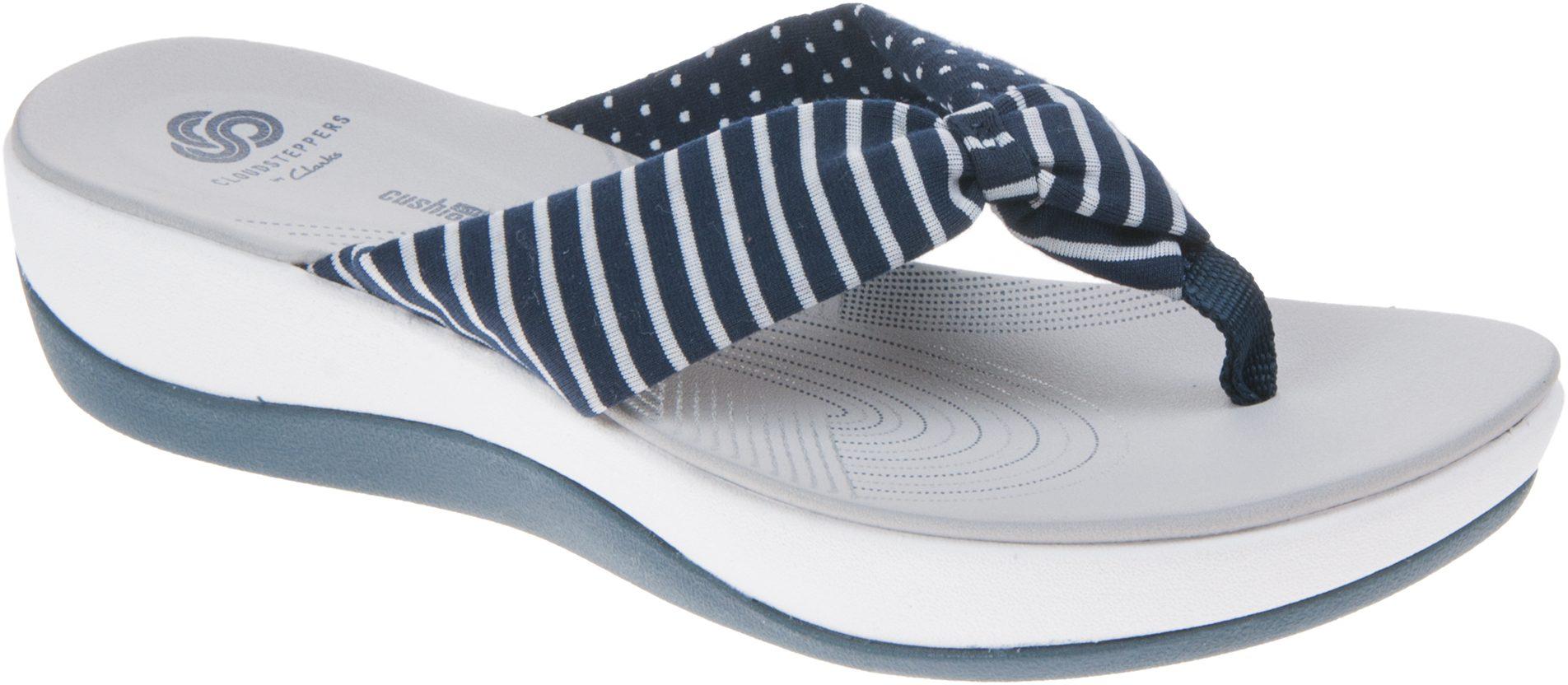 96cd6c131bc2 Clarks Arla Glison Navy Comb 26134255 - Toe Post Sandals - Humphries Shoes