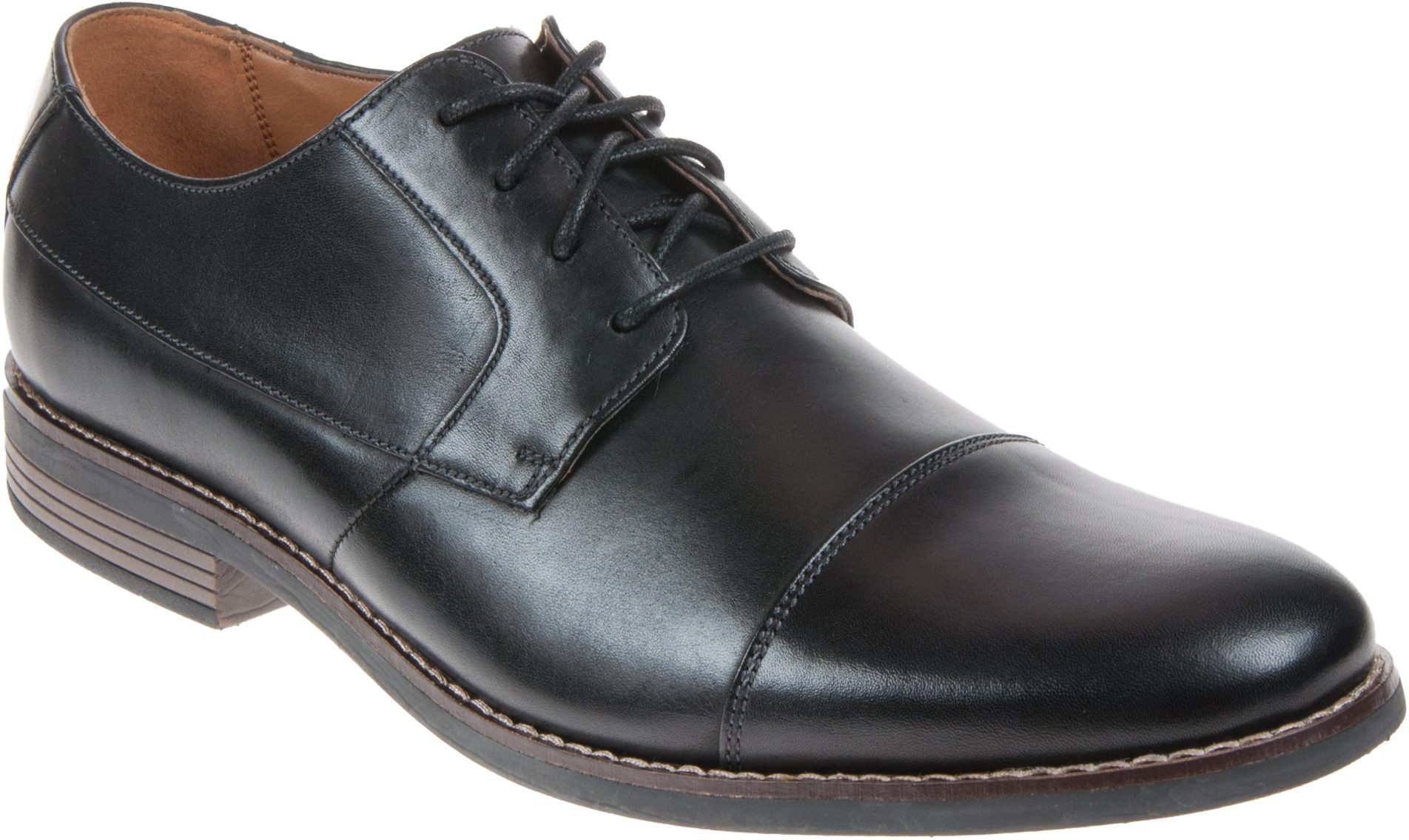 edeb8c27b81b Clarks Becken Cap Black Leather 26123139 - Formal Shoes - Humphries Shoes