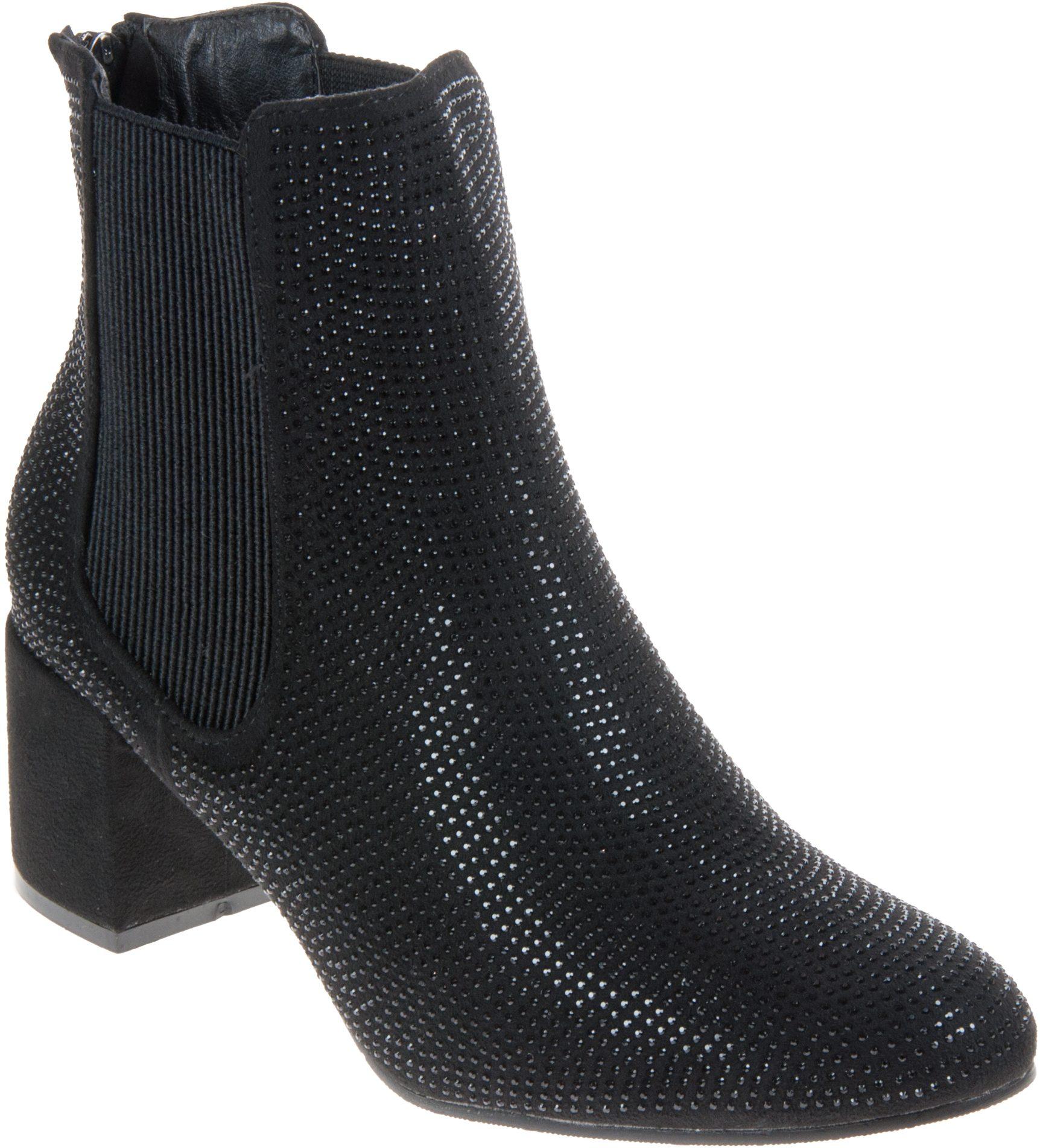ed2e39f7 Heavenly Feet Wave Black Diamante - Ankle Boots - Humphries Shoes