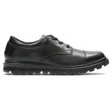 2dfe19036708 Clarks Mariel Wish Junior Black Leather 26126629 - Girls School ...