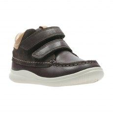 ced09d6408 Clarks. Cloud Tuktu. Cloud Tuktu, babies boots, brown combi leather ...