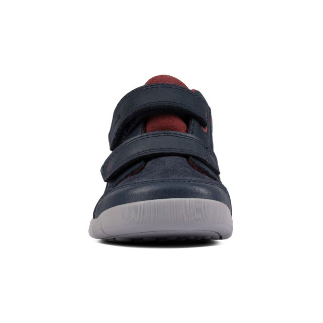 Clarks Rex Park Kid Leather Boots in Navy Standard Fit Size 11
