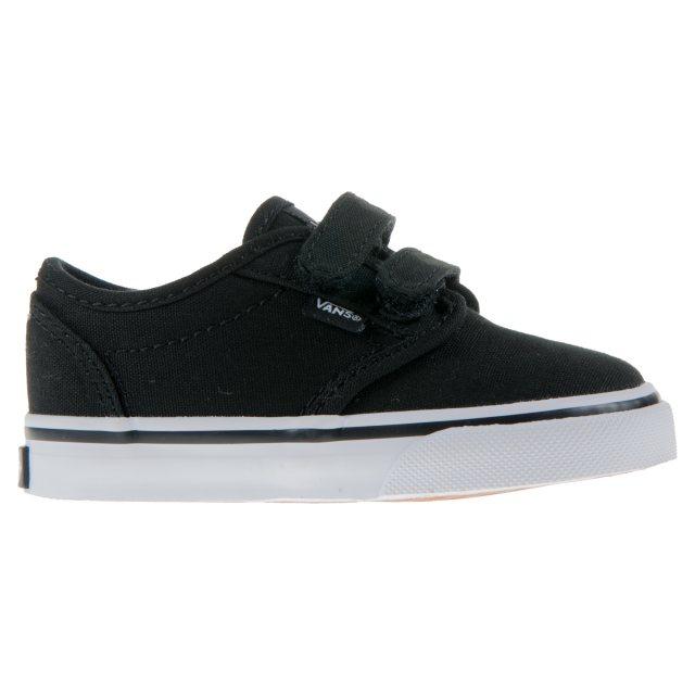 Vans Toddler Atwood Velcro Black   White VN000 RQX187 - Boys Canvas ... e29eb89d4c8a