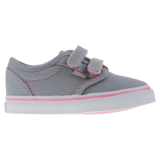 9a0098169c Vans Toddler Atwood Velcro Grey   Pink VN000 RQXATP - First Walkers ...