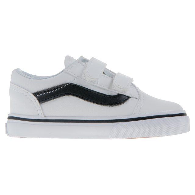 Vans Toddler Old Skool Velcro White   Black VN0A38JNNQS - First ... 57eeca9c5