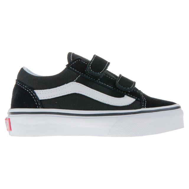 7d3cf00eed Vans Kids Old Skool Velcro Black   White VN000VHE6BT - Boys Canvas ...