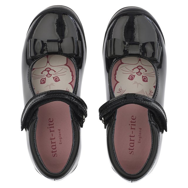 Girls Startrite Formal School Shoes Pussycat Bow