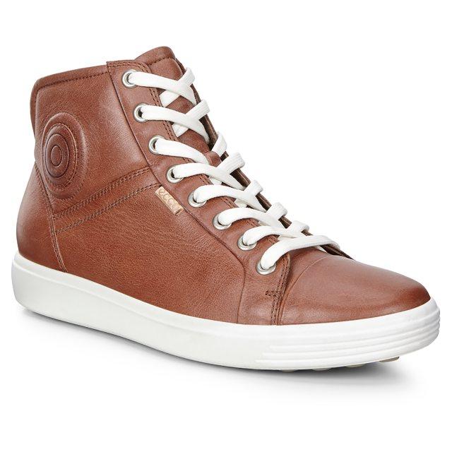 8211f85825 Ecco Soft 7 Womens Mid Mahogany 430023 01195 - Ankle Boots ...
