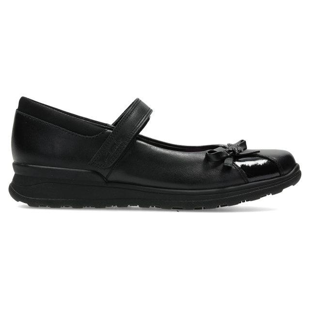Clarks Black Leather School Shoes MarielWish SALE Girls Gloforms
