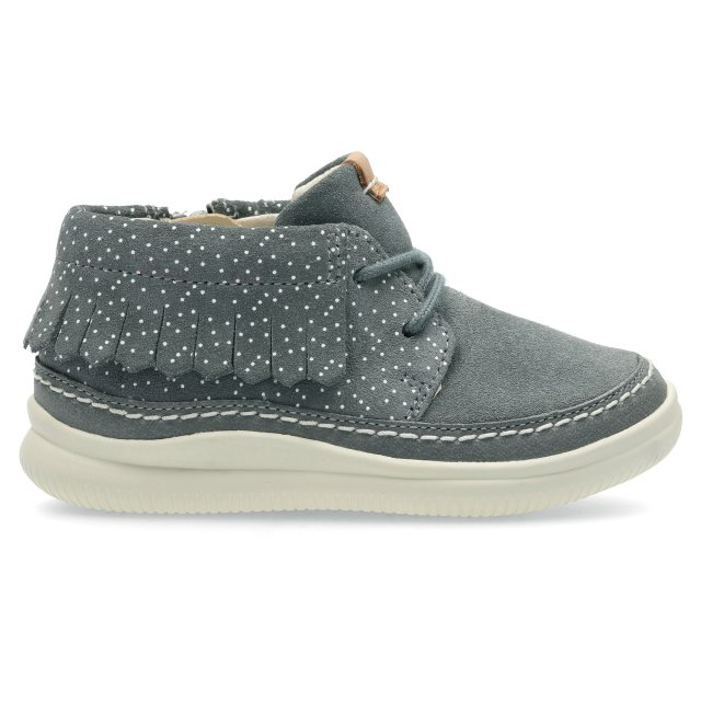 Clarks Cloud Aklark Fst Girl's First Shoes 5 F Grey Suede 4845733