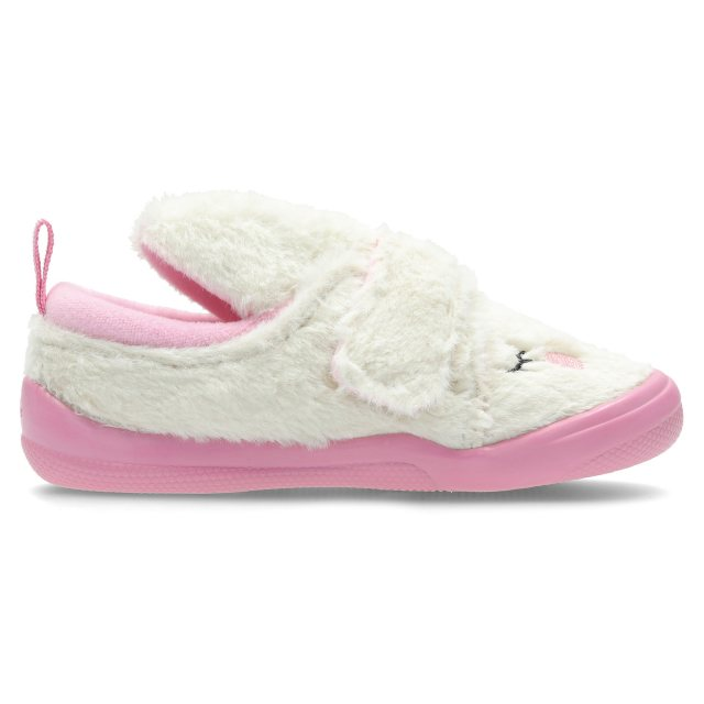 Clarks Cuba Patch Infant White / Pink