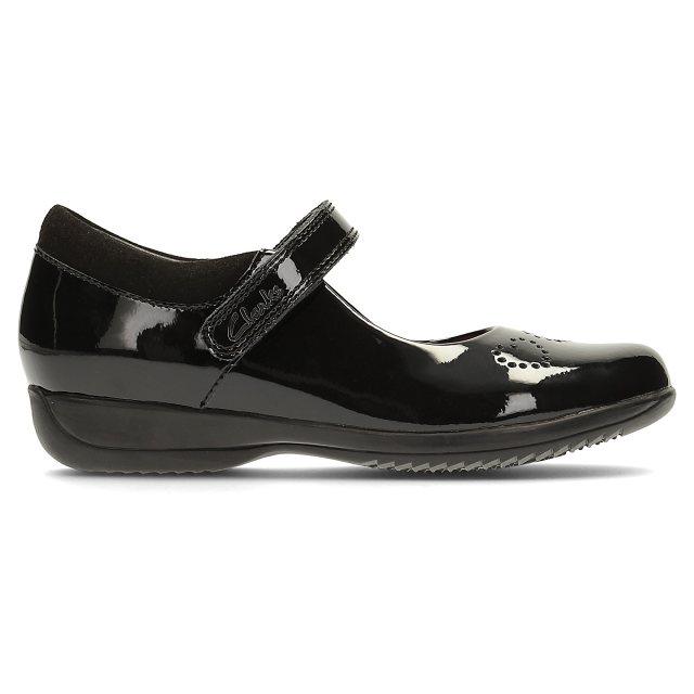 961ee0abb Clarks Friend Fizz Infant Black Patent 26123569 - Girls School Shoes ...