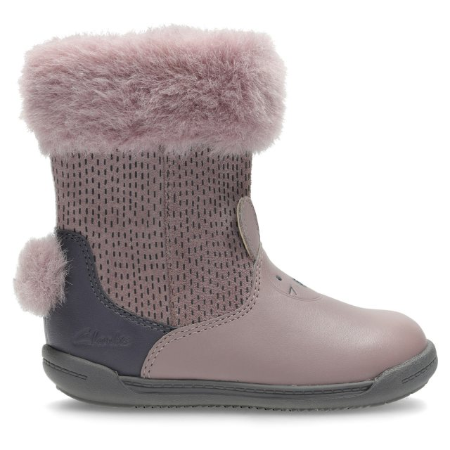 4c679896d8d Clarks Iva Time First Dusty Pink Leather 26128338 - First Walkers ...