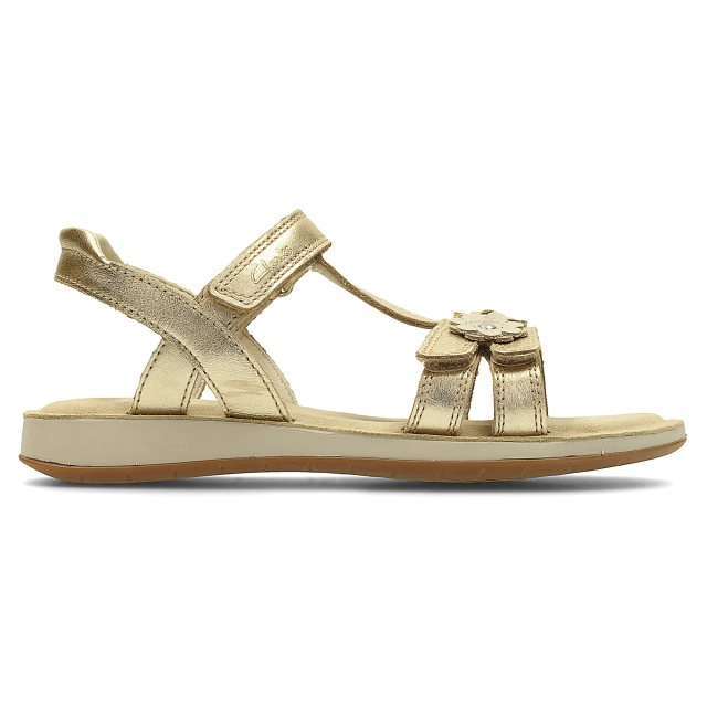 12f57ecfd16 Clarks Sea Sally Infant Gold Leather 26123701 - Girls Sandals ...
