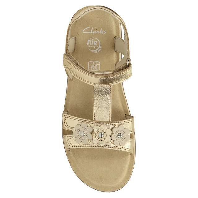 9c41f4cc889 Clarks Sea Sally Junior Gold Leather 26123709 - Girls Sandals ...