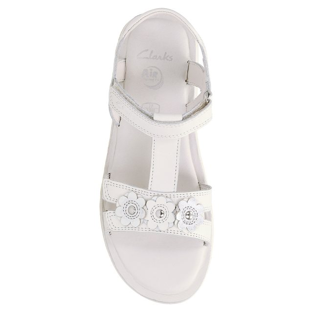 c406a655a70 Clarks Sea Sally Junior White Leather 26123703 - Girls Sandals ...