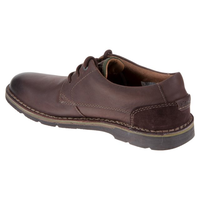 authorized site buying cheap elegant shoes Clarks Edgewick Plain Dark Brown Leather 26119832 - Casual ...