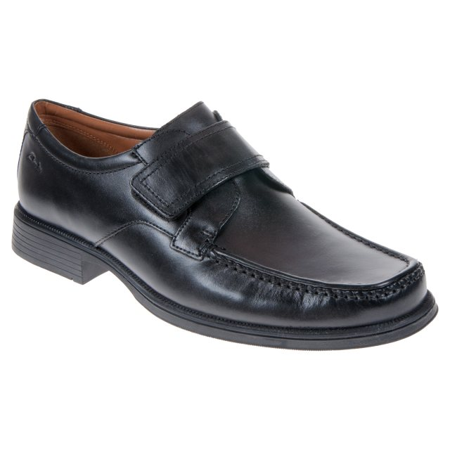 780aaee9d8cc9 Clarks Huckley Roll Black Leather 26107244 - Formal Shoes ...