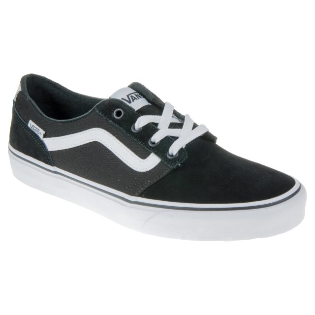 38854a6269 Vans Chapman Stripe Black   White Suede Canvas VN0A38CBC4R - Casual ...