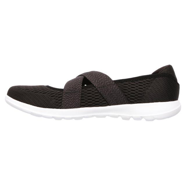Calígrafo Cambios de Tulipanes  Skechers Go Walk Lite - Cutesy Black / White 15407 BKW - Womens Trainers -  Humphries Shoes