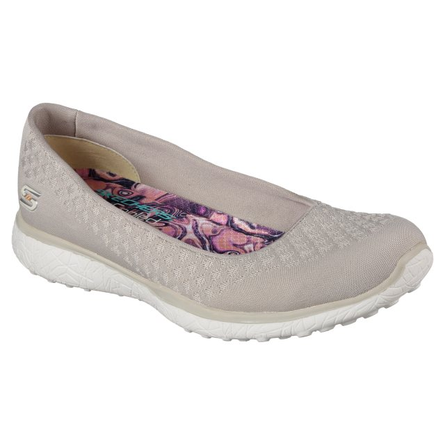 ácido mensual Torrente  Skechers Microburst - One - Up Natural 23312 NAT - Ballerina Shoes ...