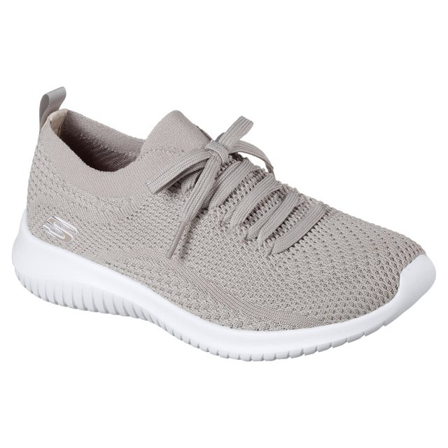 8a7c5f994ded Skechers Ultra Flex Taupe 12841 TPE - Womens Trainers - Humphries Shoes