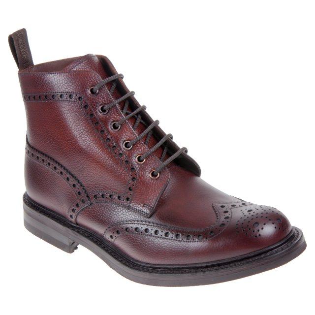 Oxblood Grain Loake Bedale Brogue Boot