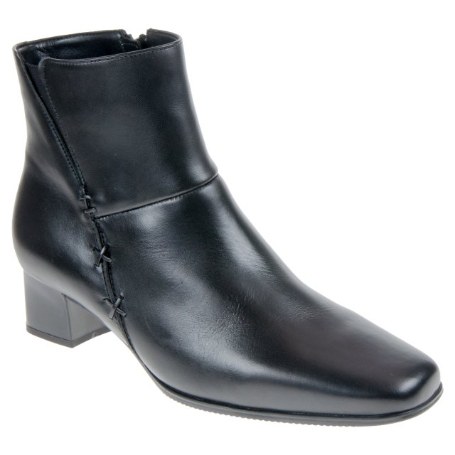 72dffbb11 Gabor Bassanio Black Leather 76.620.51 - Ankle Boots - Humphries Shoes