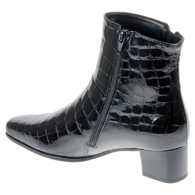c72f4fbb48e Gabor Bassanio Black Croc Patent 76.620.97 - Ankle Boots - Humphries ...