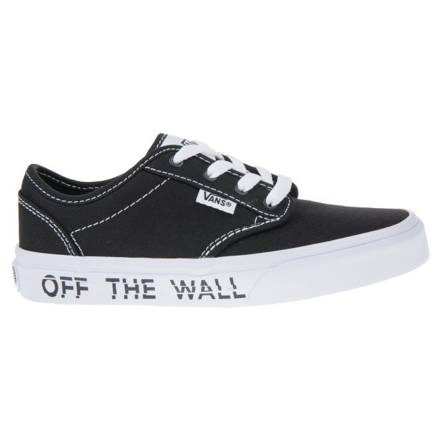 2f93f02baea Vans Kids Atwood Black   White VN0003Z9R0M - Boys Trainers ...