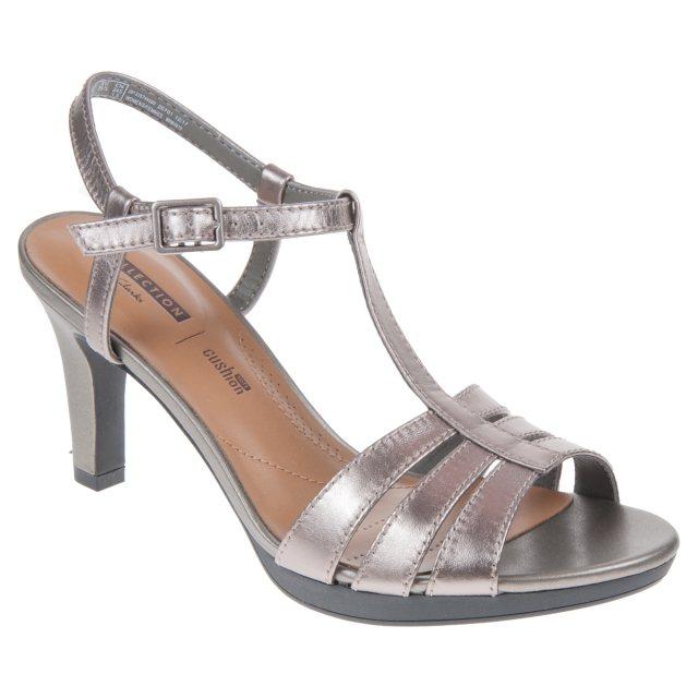 c060769385d4 Clarks Adriel Tevis Pewter 26133574 - Evening Sandals - Humphries Shoes