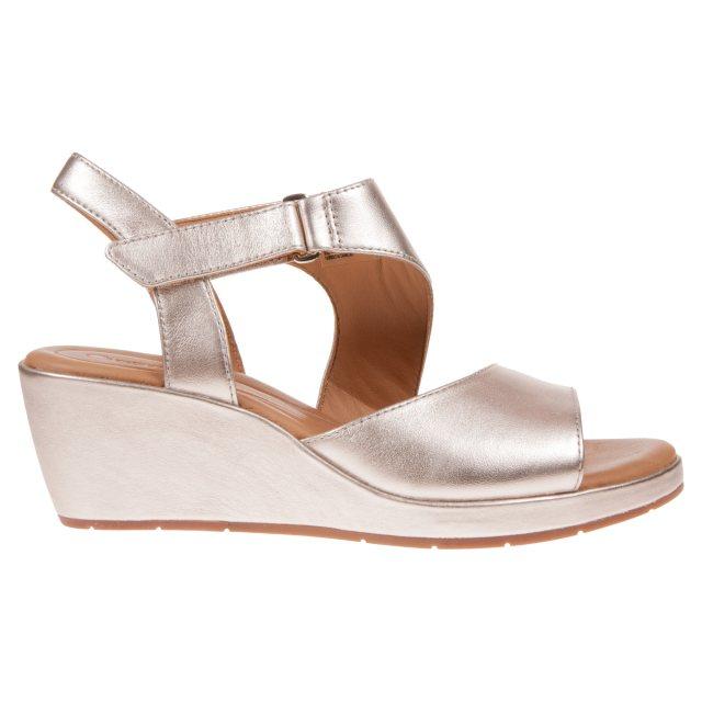 06d32f2467bc Clarks Un Plaza Sling Gold Metallic 26133487 - Full Sandals ...