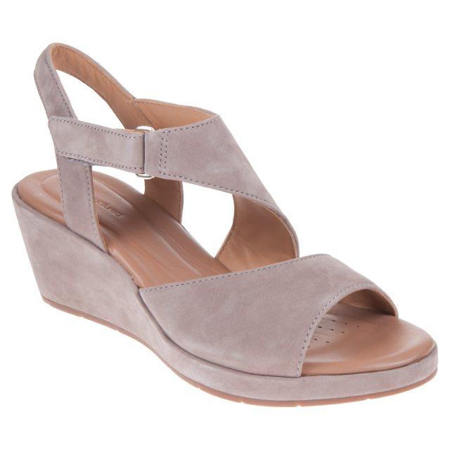 b80d936804 Clarks Un Plaza Sling Grey Nubuck 26132319 - Full Sandals ...