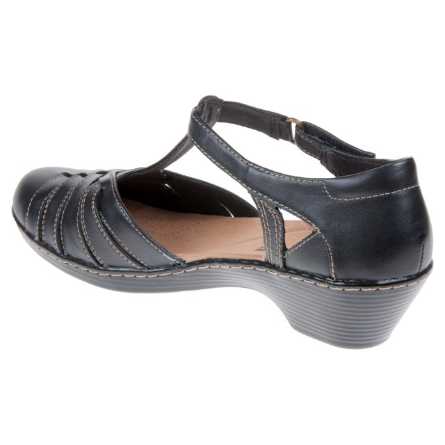 0c0e6b587b6 Clarks Wendy Alto Black Leather 26132061 - Everyday Shoes ...