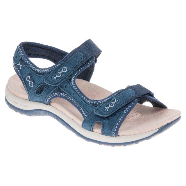 1d01479d Earth Spirit Frisco Navy Blue 28093 - Full Sandals - Humphries Shoes