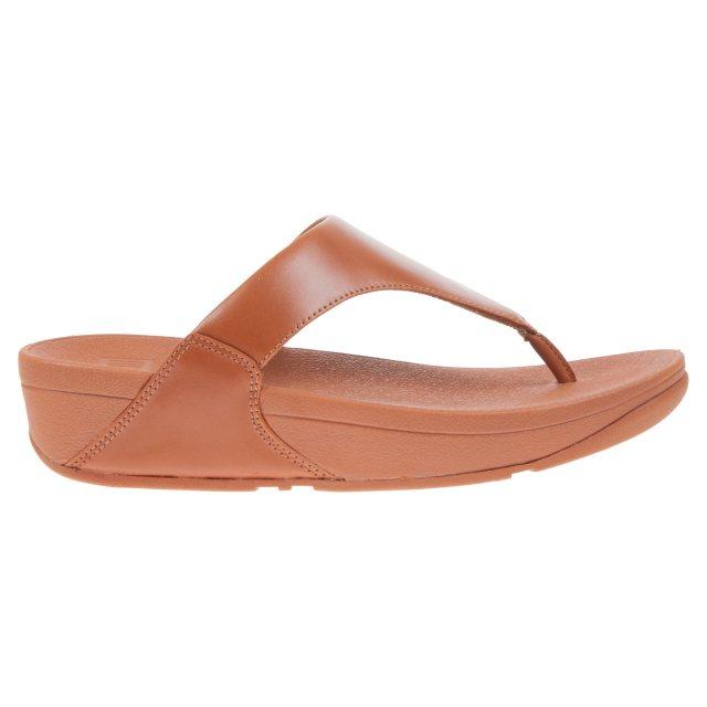 e19df599e72da3 FitFlop Lulu Leather Caramel I88-098 - Toe Post Sandals - Humphries ...