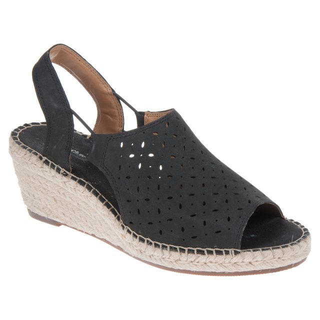 73433c0d8fa5 Clarks Petrina Gail Black Nubuck 26126676 - Full Sandals - Humphries ...