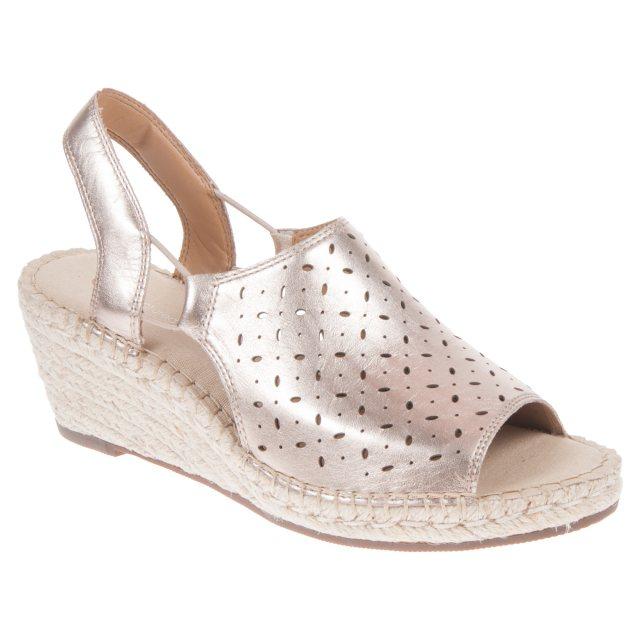 bed17a8b025 Clarks Petrina Gail Gold Metallic 26126862 - Full Sandals ...