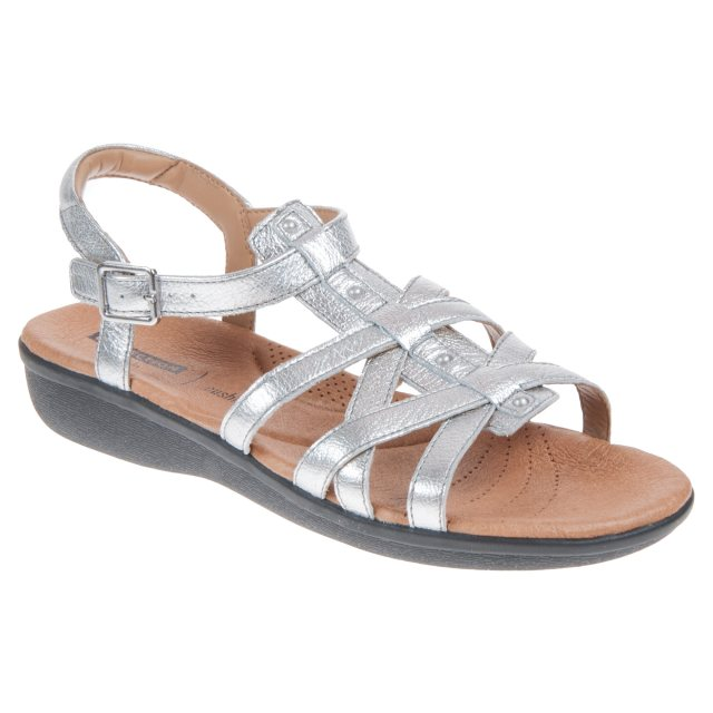 Sandals Leather Full 26115613 Clarks Manilla Bonita Silver pWqzwngBxU