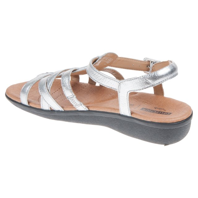 3c2f0a333cd1 Clarks Manilla Bonita Silver Leather 26115613 - Full Sandals ...