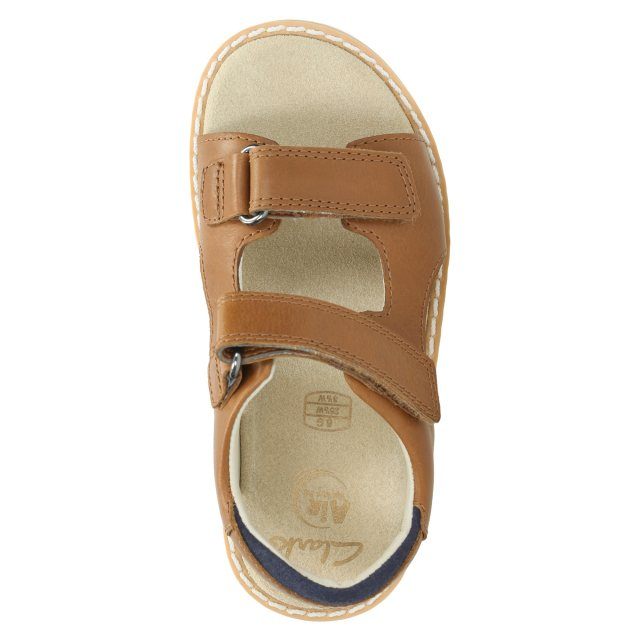 be65181b7 Clarks Crown Root Tan Leather 26131059 - Boys Sandals - Humphries Shoes