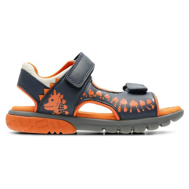 Clarks Rocco Surf Navy Combi Leather 26131678 - Boys Sandals ... 957c895ee170