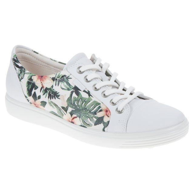 Ecco Soft 7 Ladies White / Flower Print