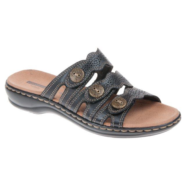 7832ed2cc78a Clarks Leisa Grace Black Leather 26134117 - Mule Sandals - Humphries ...